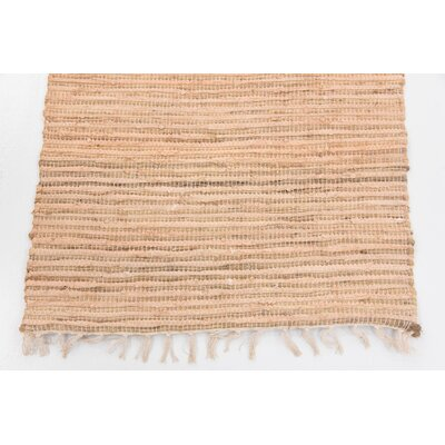 Brightwell Hand Woven Wool Beige Area Rug