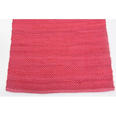 Nadia Hand woven Wool Pink Area Rug