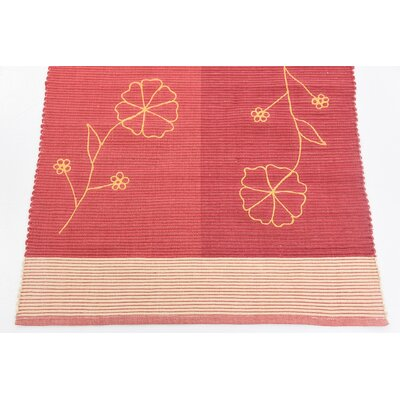 Ptolemy Hand woven Wool Red Area Rug