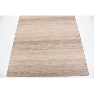 Shae Hand woven Wool Brown Area Rug Rug Size: 4 x 5 7