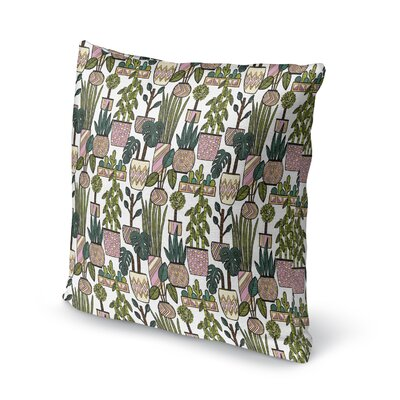 Charlise Plant Throw Pillow Size: 16 H x 16 W