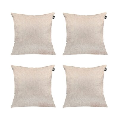 Cotton Pillow Cover Color: Light Gray, Size: 20 x 20