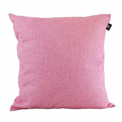 Home Decor Couch Cotton Pillow Cover Color: Light Pink, Size: 18 x 18