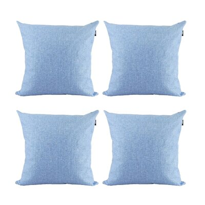 Cotton Pillow Cover Color: Lavender, Size: 20 x 20