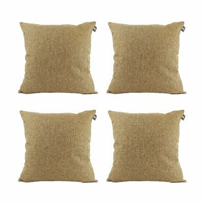 Cotton Pillow Cover Color: Espresso Brown, Size: 18 x 18
