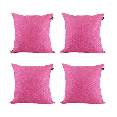 Cotton Pillow Cover Color: Rose Red, Size: 18 x 18