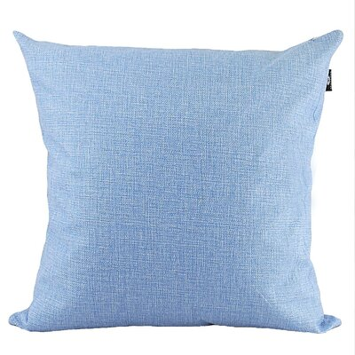 Home Decor Couch Cotton Pillow Cover Color: Lavender, Size: 18 x 18