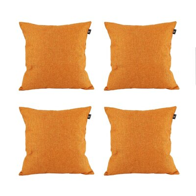 Cotton Pillow Cover Color: Orange, Size: 18 x 18