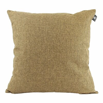 Home Decor Couch Cotton Pillow Cover Color: Espresso Brown, Size: 18 x 18