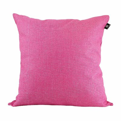 Home Decor Couch Cotton Pillow Cover Color: Rose Red, Size: 18 x 18
