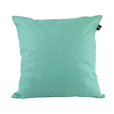 Home Decor Couch Cotton Pillow Cover Color: Cyan, Size: 18 x 18