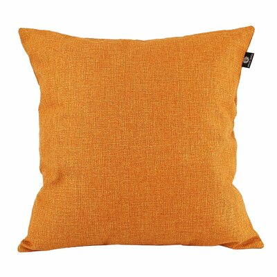 Home Decor Couch Cotton Pillow Cover Color: Orange, Size: 18 x 18