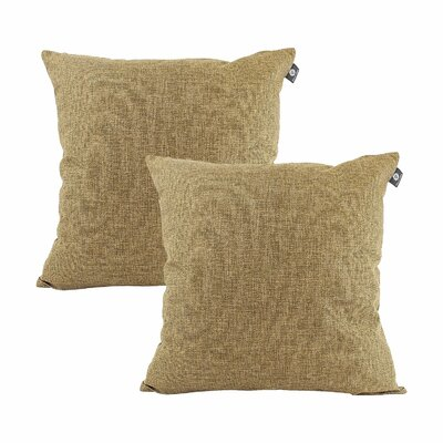 Home Decor Couch Sofa Cotton Pillow Cover Color: Espresso Brown, Size: 20 x 20