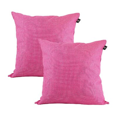 Home Decor Couch Sofa Cotton Pillow Cover Color: Rose Red, Size: 20 x 20
