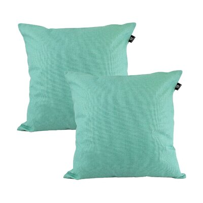 Home Decor Couch Sofa Cotton Pillow Cover Color: Cyan, Size: 18 x 18