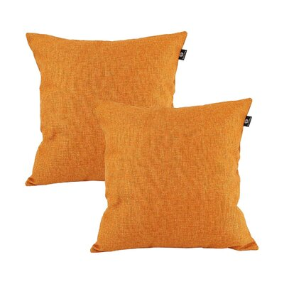Home Decor Couch Sofa Cotton Pillow Cover Color: Orange, Size: 18 x 18