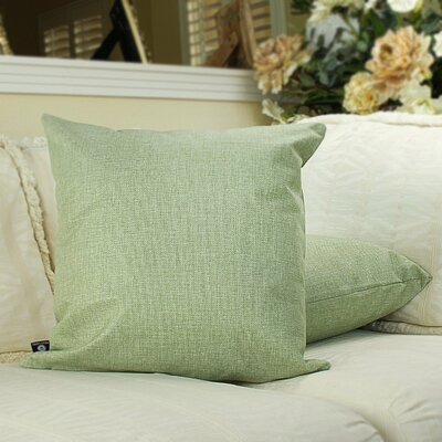 Home Decor Couch Cotton Pillow Cover Color: Moss green, Size: 18 x 18