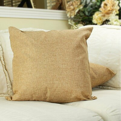 Home Decor Couch Cotton Pillow Cover Color: Walnut, Size: 18 x 18