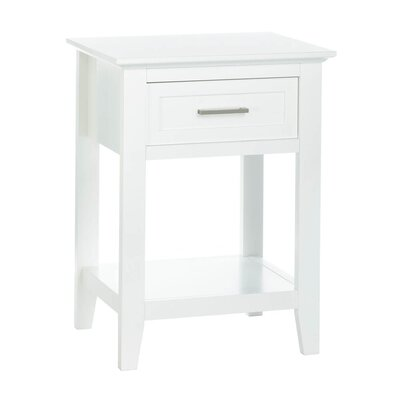 Levay End Table Color: White