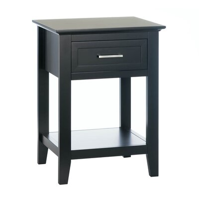 Levay End Table Color: Black