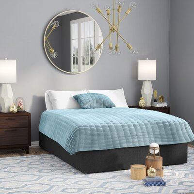 Charlestown Gray Upholstered Platform Bed Size: Twin