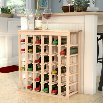Karnes Pine 36 Bottle Floor Wine Rack Finish: Natural