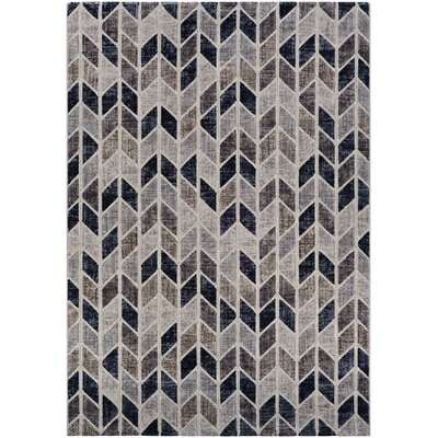 Andover Gray Area Rug Rug Size: 92 x 125