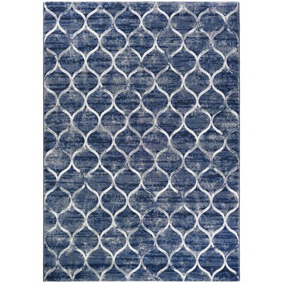 Semple Blue Area Rug Rug Size: 92 x 125