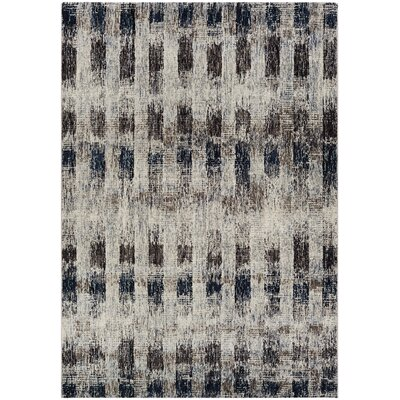 Andover Bone Gray Area Rug Rug Size: Runner 27 x 71