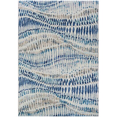 Sultan Bone Blue Area Rug Rug Size: 3'11