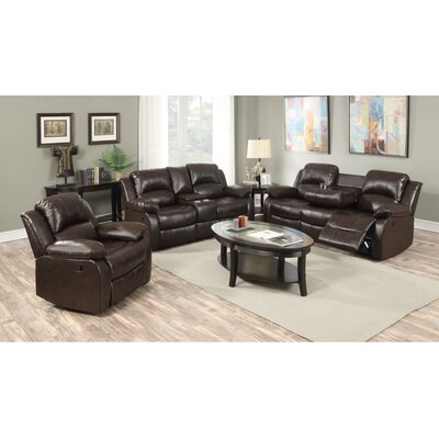 Berta Reclining Living Room Set Upholstery: Brown
