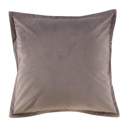 Phipps Decorative Velvet Throw Pillow Color: Gray