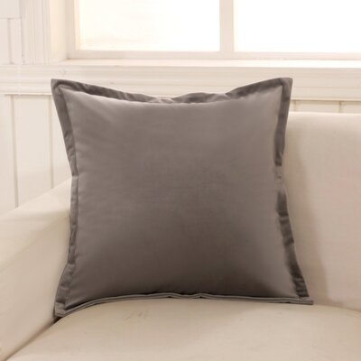 Phipps Decorative Velvet Throw Pillow Color: Gray