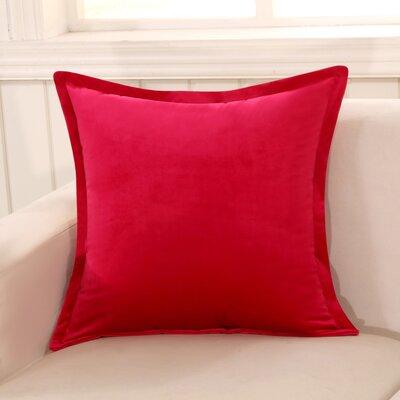 Phipps Decorative Velvet Throw Pillow Color: Red