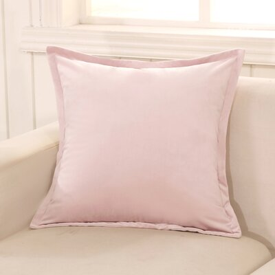 Phipps Decorative Velvet Throw Pillow Color: Pink