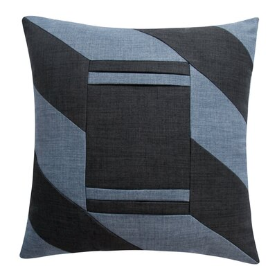 Phoenicis iPhone/iPad Decorative Throw Pillow Color: Blue/Black