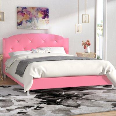 Ruben Upholstered Platform Bed Size: Queen, Color: Pink