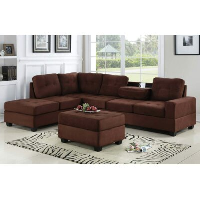Philipstown Heights Modular Sectional with Ottoman Upholstery: Chocolate