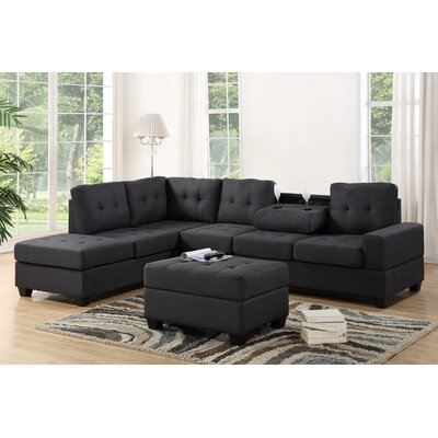 Philipstown Heights Modular Sectional with Ottoman Upholstery: Gray