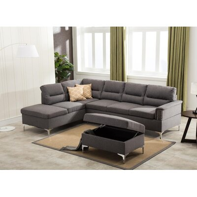 Sharee Modular Sectional with Ottoman Upholstery: Gray