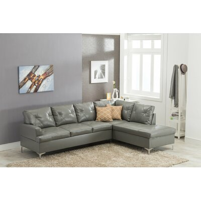 Trumbauer Modular Sectional Upholstery: Gray