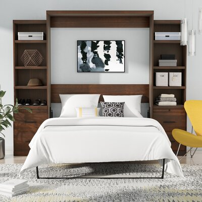 Delapaz Queen Storage Murphy Bed Color: Brown
