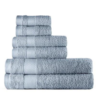 6 Piece Bath Towel Set Color: Duck Egg