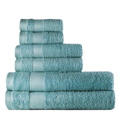 6 Piece Bath Towel Set Color: Cobalt