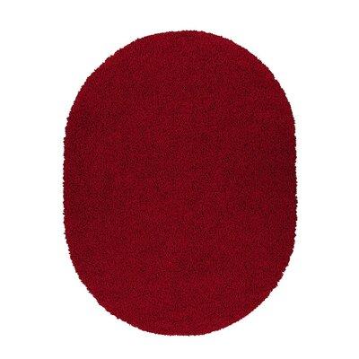 Beldale Shag Red Area Rug Rug Size: Oval 53 x 7