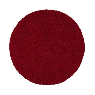 Beldale Shag Red Area Rug Rug Size: Round 53 x 53