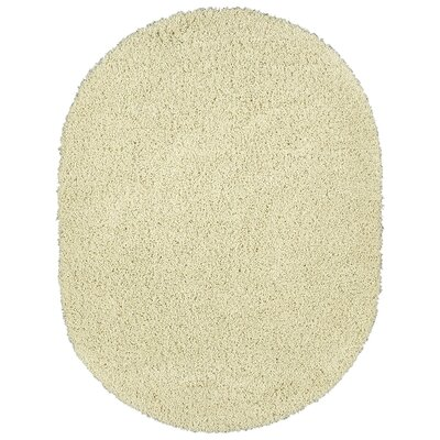 Cozy Ivory Area Rug Rug Size: Oval 53 x 7