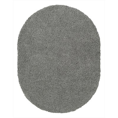 Cozy Gray Area Rug Rug Size: Oval 53 x 7