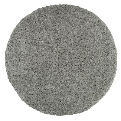 Cozy Gray Area Rug Rug Size: Round 53 x 53