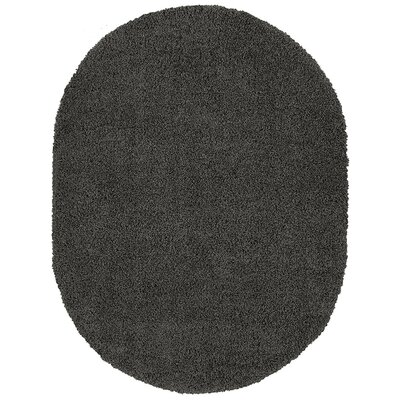 Cozy Charcoal Area Rug Rug Size: Oval 53 x 7